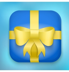 Design gift icon for web and mobile vector