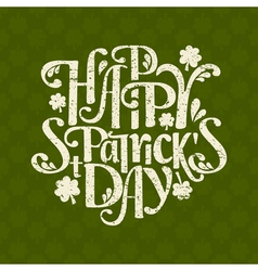 Vintage typographic design for St Patricks Day vector image
