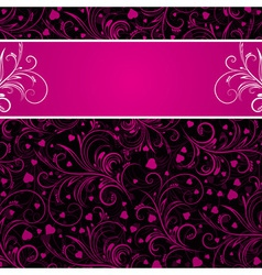 Valentines background with decorative ornaments vector
