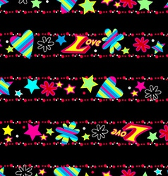 Girls cute Love sequin seamless pattern vector image