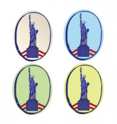 Statue of liberty icons vector