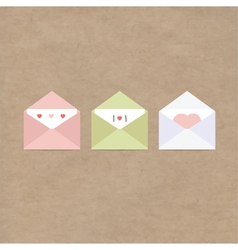 Greetings letter envelopes kraft paper vector