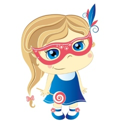 Girl in mask vector