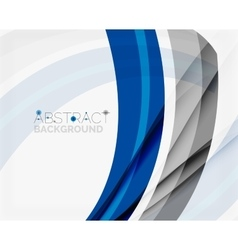 Corporate blue wave background for your business vector