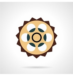 Bike sprocket icon flat style vector