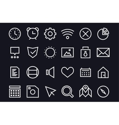 Outline ui user interface technology black vector