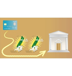 electronic money is very fast vector image