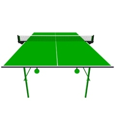 Ping pong green table tennis vector