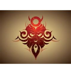 kabuki tattoo vector image
