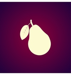 A pear icon vector