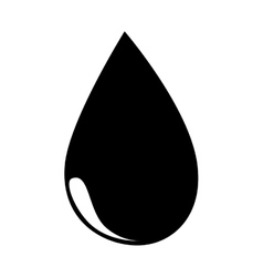 Oil black drop icon vector