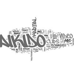 Aikido clip video text word cloud concept vector