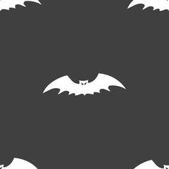 bat icon sign Seamless pattern on a gray vector image vector image