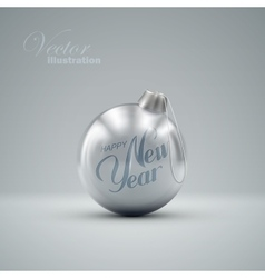 Christmas ball happy new year vector