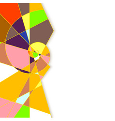 Colorful abstract geometric background with place vector image vector image