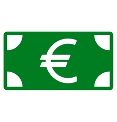 Euro Banknote icon from Business Bicolor Set vector image
