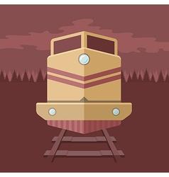 Flat train vector