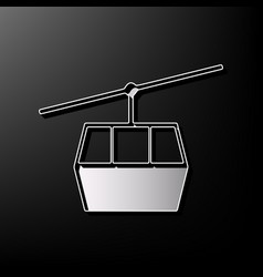 Funicular cable car sign gray 3d printed vector