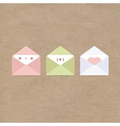 Greetings letter envelopes kraft paper vector