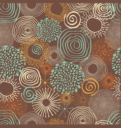 Inky circles in seamless pattern vector
