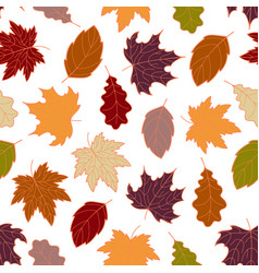 leaves seamless fall 3 vector image vector image