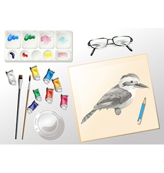 Materials used when painting vector