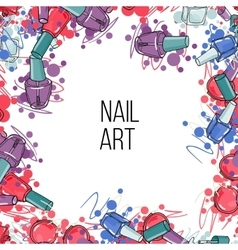Nail lacquer bottles vector