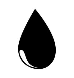 oil black drop icon vector image
