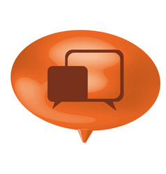 orange bubble with chat bubbles inside vector image vector image
