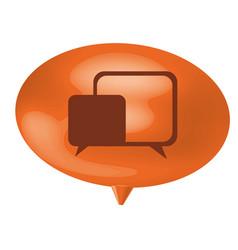Orange bubble with chat bubbles inside vector