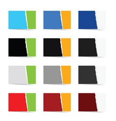 Paper collection in color set vector