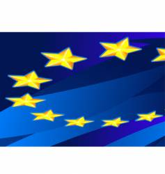 perspective flag of european union vector image