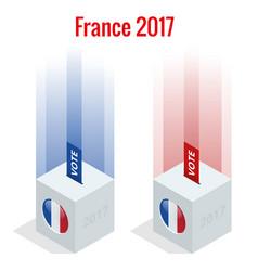 presidential election in france 2017 ballot box vector image vector image