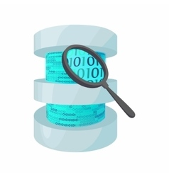 Search data in database icon cartoon style vector image