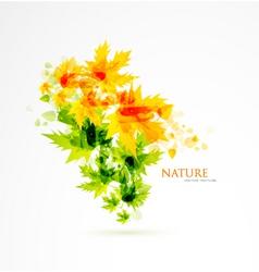 sun leafs vector image vector image