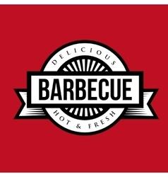 Vintage Style BBQ Barbecue Menu Stamp vector image