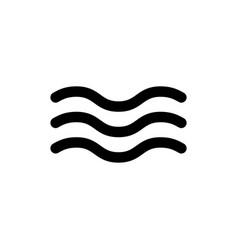 wave icon vector image vector image