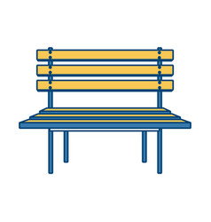 wooden park chair vector image