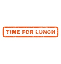 Time for lunch rubber stamp vector