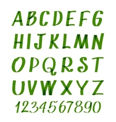 Marker letters and numbers hand written vector