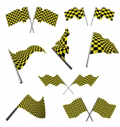 checked racing flags set vector image