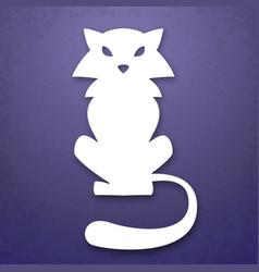 Cat applique background vector