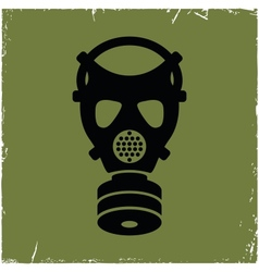 Gas mask on old background with effect of vector