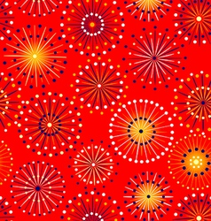 Seamless fireworks pattern vector