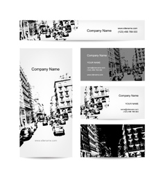 Business card urban design street of barcelona vector