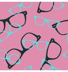 Seamless pattern with sunglasses vector