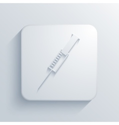 Modern syringe light icon vector