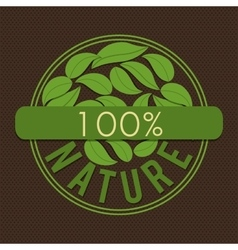 Green ecology label vector