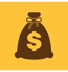 The money bag icon cash and money wealth vector