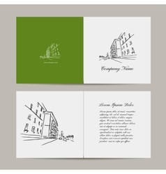 Greeting card cityscape design vector